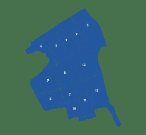 Makelaars vergelijken in wijken in Delft (kaart)