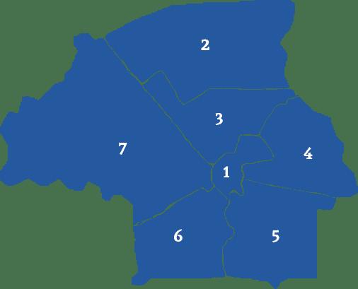 Overzicht van de wijken in Eindhoven