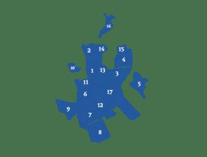 Makelaars vergelijken in wijken in Emmen (kaart)
