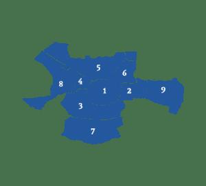 Makelaars vergelijken in verschillende wijken in Enschede (kaart)