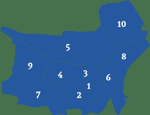 Overzicht van de wijken in Tilburg