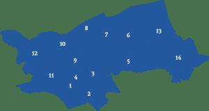 Makelaars vergelijken in dorpen in Den Bosch (kaart)