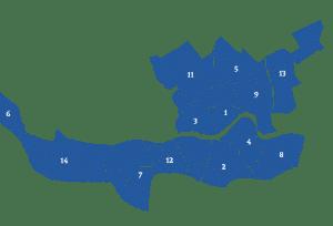 Makelaars vergelijken in wijken in Rotterdam (kaart)